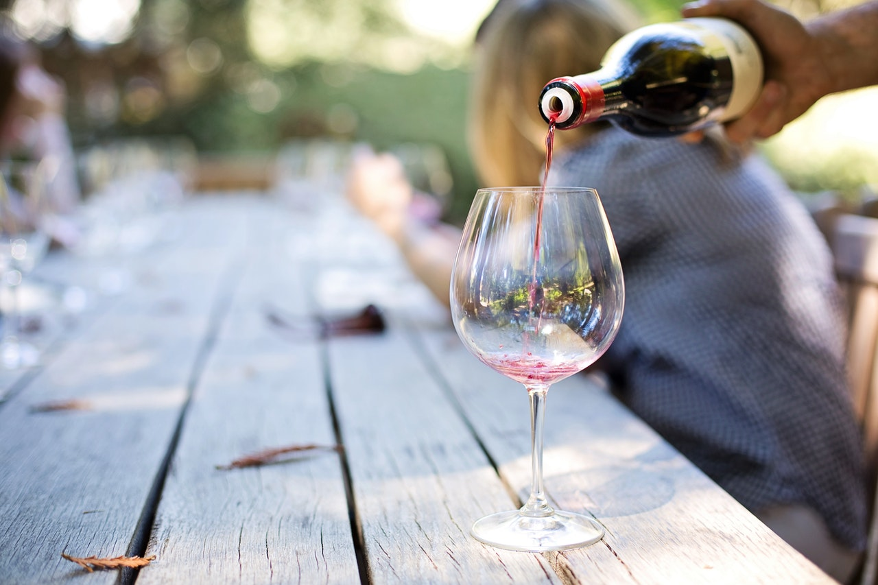 sommelier and selection of wine
